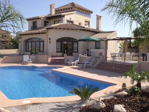 Front line luxury 3 bedroom villa, with superb private pool & patios.