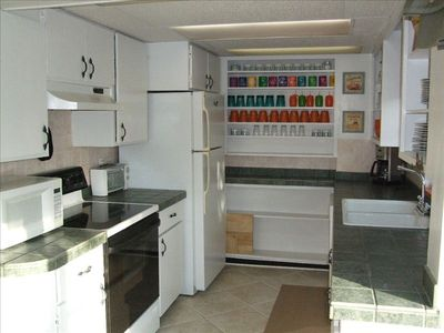 One of Two Full Kitchens