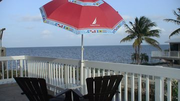 Key Largo house rental - Relax in the 500 square foot second floor balcony with Amazing Ocean View