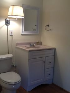 Salisbury Beach cottage rental - Half Bath off Bunk Room (3 Bedroom)