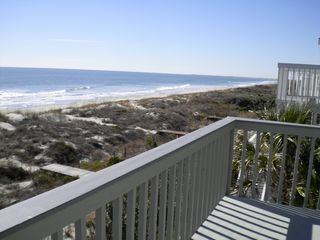 Isle of Palms house photo - View from upper deck looking south towards Charleston harbor