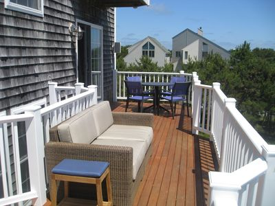 Relax and take in the view while lounging on the deck.