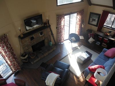 Lots of natural light shining into the family room.