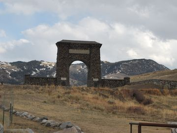 The Arch- the first entrance into Yellowstone Built in 1903