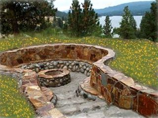 Curlew Lake house photo - Enjoy your evenings by a cozy outdoor fire