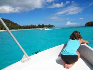 Going to the motu (islet) - Moorea bungalow vacation rental photo