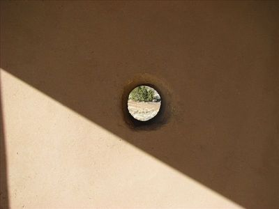 Adobe Porthole detail.