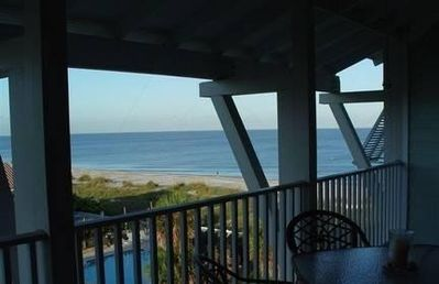 Your breathtaking view from your double long balcony completely furnished.