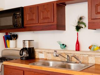 Chocolate Hole villa photo - Aussie's fully equipped kitchen - coffee maker, blender, toaster, utensils