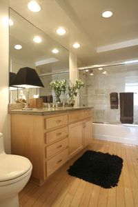 The Full Bath also includes a built-in chest of drawers