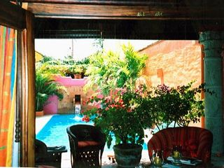 Sayulita house photo - VIEW FROM BEDROOM INTO LIVING SPACE AND POOL AREA
