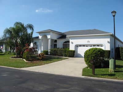 This is our beautiful villa in Fort Myers on a quiet residential street.