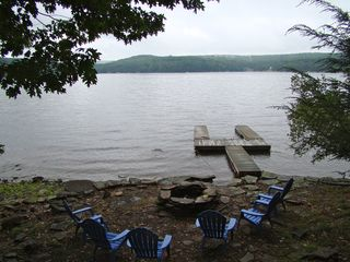 Lake Wallenpaupack house photo - Private Dock, just restained and sealed this spring. New lines.