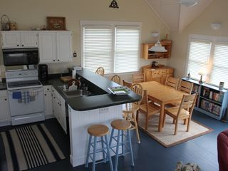Bald Head Island house photo - View of kitchen and dining area.