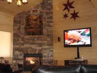 Ellijay cabin photo - LQQK CLOSE at the waterfall above fireplace!