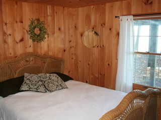 Big Bay cabin photo - Bedroom on Main floor with Lake Views