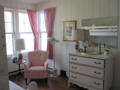 """Cherry room"" - one of eight bedrooms."