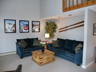 North Conway townhome photo - Comfortable couches to watch TV.