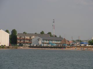 Port Clinton condo photo - Wider view from Lake Erie