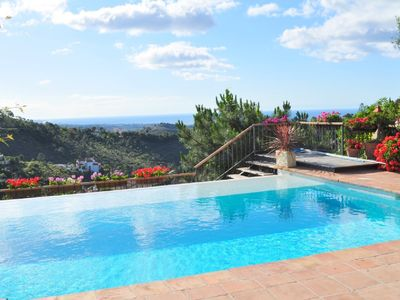 El Madronal villa rental - view to the coast and Puerto Banus