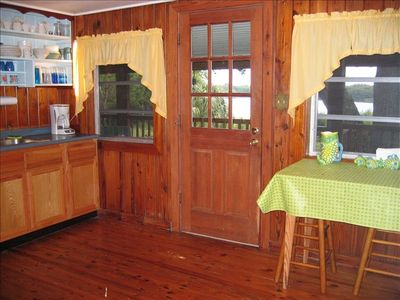 Kitchen area, has separate dining area with large picnic style table(not shown)