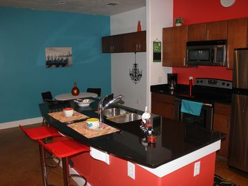 Kitchen area/breakfast bar.
