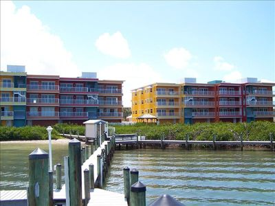 Englewood Beach condo rental - Condo Viewed from Dock