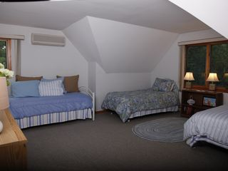 New Seabury house photo - upstairs bedroom with 3 twin beds
