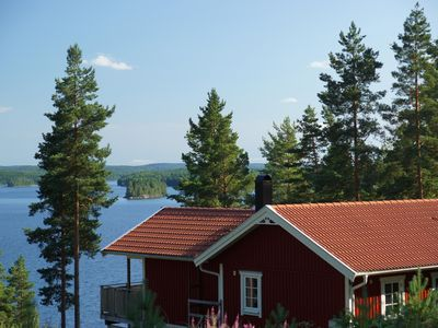 Luxury holiday home with sauna and a beautiful view of a large lake