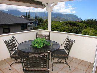 Princeville house photo - Kitchen Lanai with Bali Hai Views