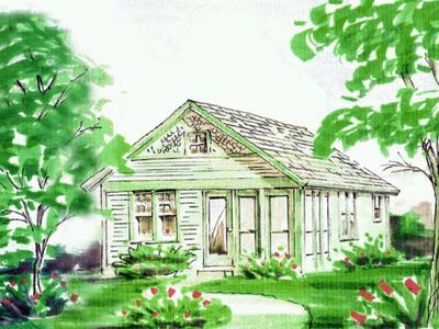 Architectural rendering of the cottage