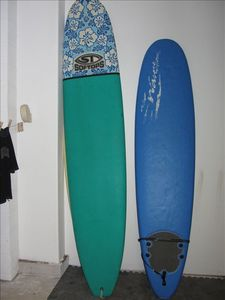 Surf board rentals packages available.  Soft tops, long boards and short boards