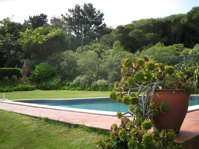 Ulgueira house rental - View of garden and pool