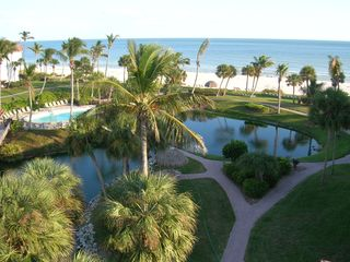 Sanibel Island condo photo - View of pool and gulf