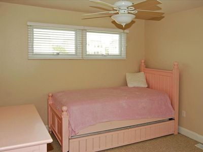 3rd bedroom with twin trundle beds.
