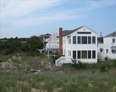 Over/Under Sunrooms, Sun Deck,  Private Dune on left with Extra beach Parking