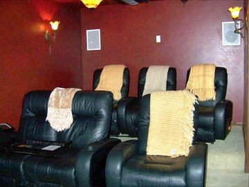 Theatre room with Stadium seating for six