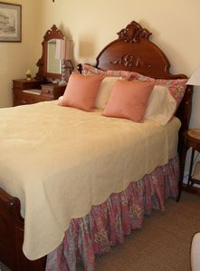 Queen Bedroom with antique bed
