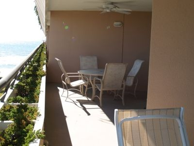 Large oversized terrace Balcony to enjoy the beautiful gulf & pools view