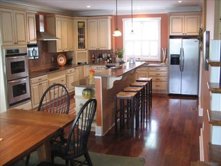 Lake Gaston house photo - Kitchen #1 Sits 12-14 at table, 4 at bar, 8 on back deck overlooking lake