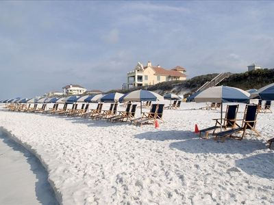 Rosemary Beach condo rental - Perfect beach- Call now and one of these chairs can be your place in the sun!