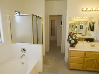 Las Vegas house photo - master bathroom with huge walk-in closet/dual sinks/seperate toilet
