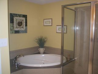 Belmont Towers Ocean City condo photo - Master Bathroom with Jetted Tub