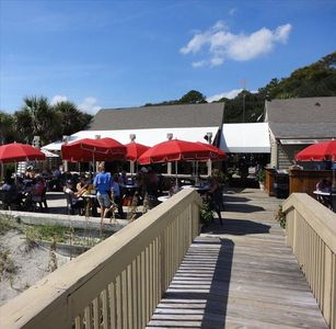 Walk a couple hundred yards up the beach for Lunch!  You love ON-THE-BEACH!!
