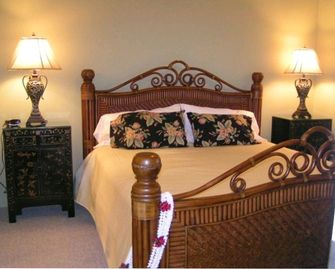 Master bedroom suite with firm mattress, 2 walk in closets, large bath