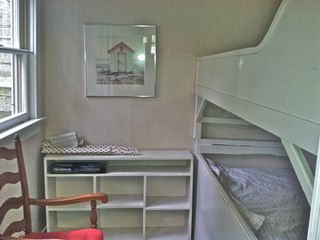 Block Island cottage photo - kids bunk bed room in small room off kitchen