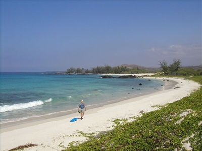 Darla on Makalewena Beach ~ One of Kona's Treasures. Typical Crowds!