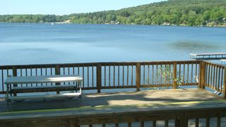Copake house photo - Deck down by the water