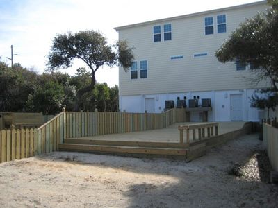Outside Fenced Yard And Deck