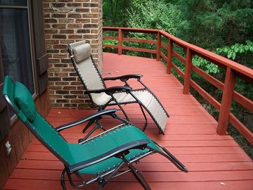 Rocky Retreat's side deck.